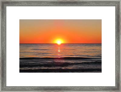 Orange Sunset  Framed Print by Sharon Cummings