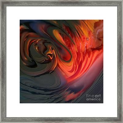 Orange Swirls Framed Print by Kimberly Lyon