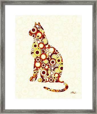 Orange Tabby - Animal Art Framed Print by Anastasiya Malakhova