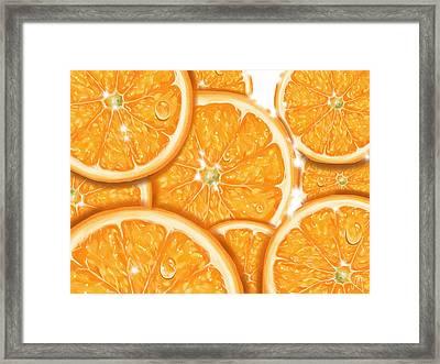 Orange Framed Print by Veronica Minozzi