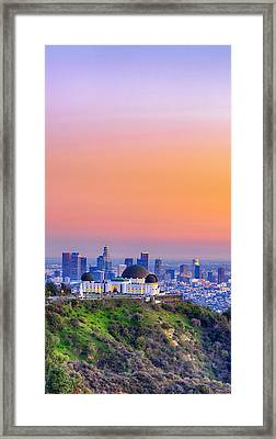 Orangesicle Griffith Observatory Framed Print by Scott Campbell