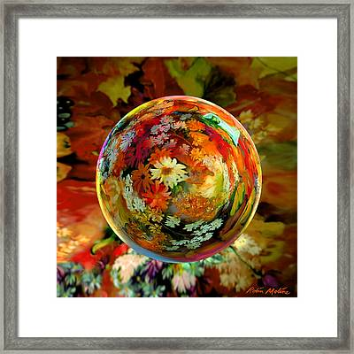 Orb Of Forever Autumn Framed Print by Robin Moline