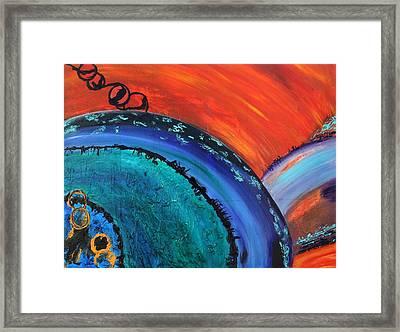 Orbit Framed Print by Victoria  Johns