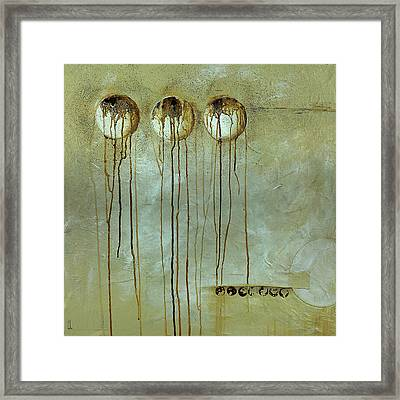 Orbs # 1 Framed Print by Cheryl Poulin