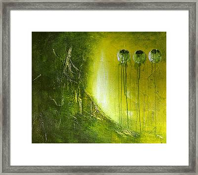 Orbs # 2 Framed Print by Cheryl Poulin