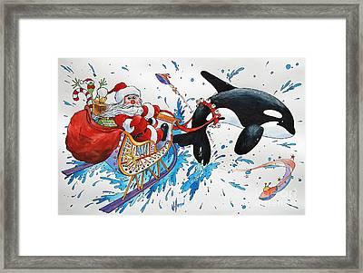 Orca Santa Framed Print by James Williamson