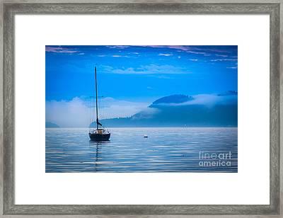 Orcas Sailboat Framed Print by Inge Johnsson