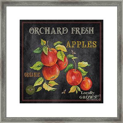 Orchard Fresh Apples-jp2638 Framed Print by Jean Plout