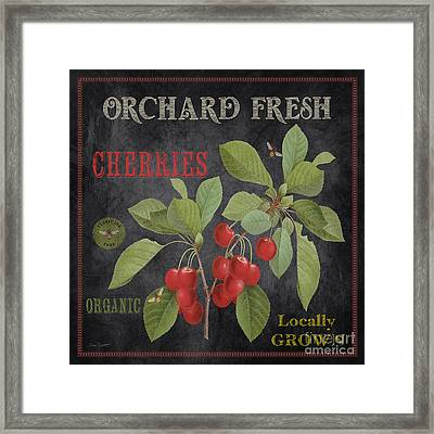 Orchard Fresh Cherries-jp2639 Framed Print by Jean Plout