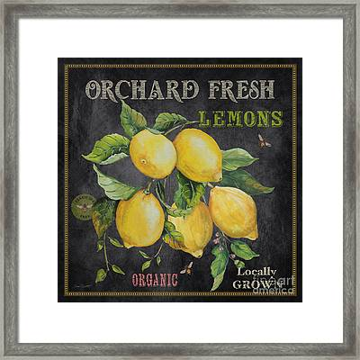 Orchard Fresh Lemons-jp2679 Framed Print by Jean Plout