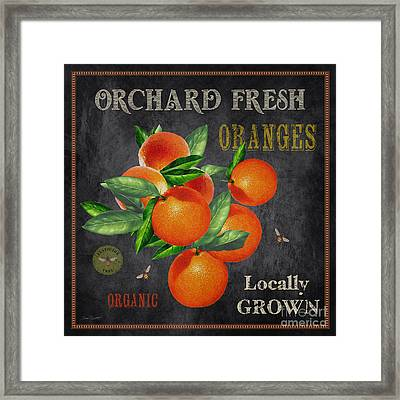 Orchard Fresh Oranges-jp2641 Framed Print by Jean Plout