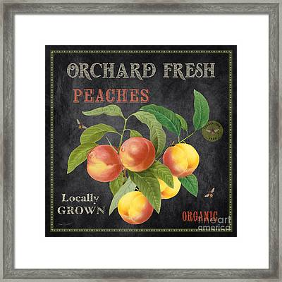 Orchard Fresh Peaches-jp2640 Framed Print by Jean Plout