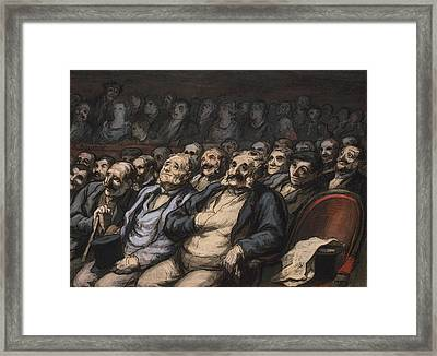 Orchestra Seat Framed Print by Honore Daumier