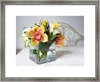 Orchid Bouquet Framed Print by Irina Sztukowski