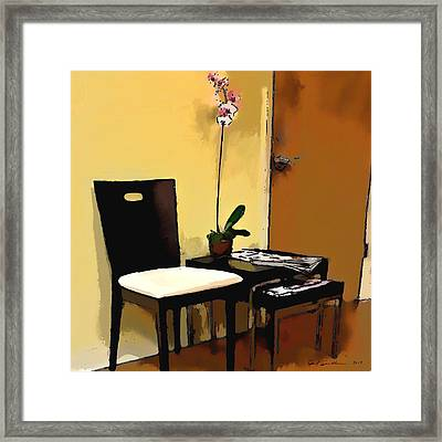 Orchid By A Chair Framed Print by Robert Smith