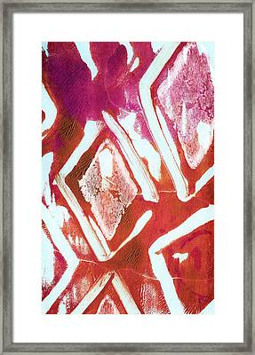 Orchid Diamonds- Abstract Painting Framed Print by Linda Woods