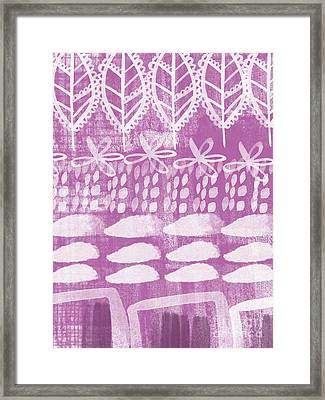 Orchid Fields Framed Print by Linda Woods