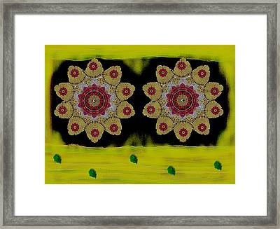 Orchids By The Water Framed Print by Pepita Selles