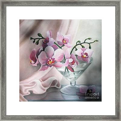 Orchids Framed Print by Vesna Martinjak
