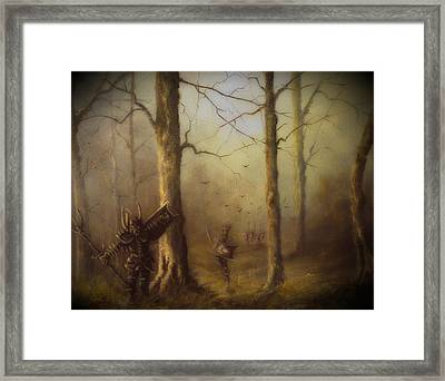 Orcs Of Isnegard Framed Print by Joe  Gilronan