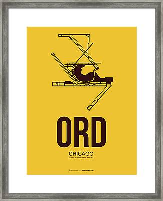 Ord Chicago Airport Poster 1 Framed Print by Naxart Studio