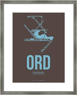 Ord Chicago Airport Poster 2 Framed Print by Naxart Studio