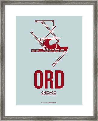 Ord Chicago Airport Poster 3 Framed Print by Naxart Studio