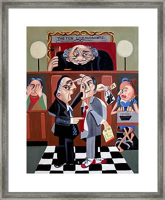 Order In The Court Framed Print by Anthony Falbo