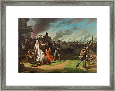 Order No. 11, 1865-70 Oil On Canvas Framed Print by George Caleb Bingham