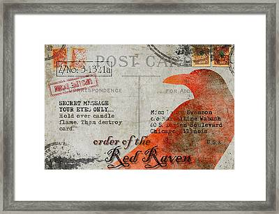 Order Of The Red Raven Faux Poste Framed Print by Carol Leigh