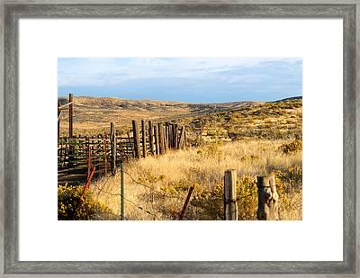 Oregon Corral Framed Print by Betty LaRue