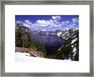 Oregon Crater Lake  Framed Print by Anonymous