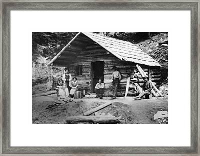 Oregon Log Cabin, C1900 Framed Print by Granger