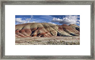 Oregon Painted Hills Panoramic Framed Print by Leah McDaniel