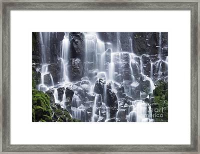 Oregon Ramona Falls Framed Print by King Wu