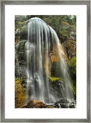 Oregon Silver Falls Framed Print by Adam Jewell