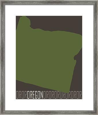 Oregon State Modern Framed Print by Flo Karp
