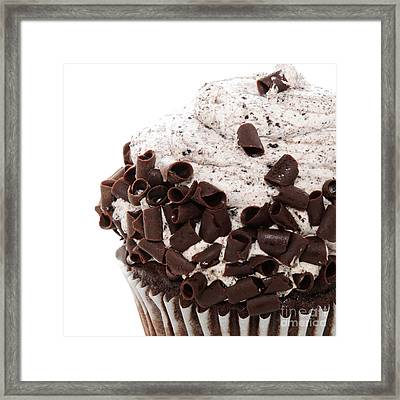 Oreo Cookie Cupcake 3 Framed Print by Andee Design