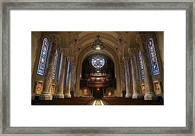 Organ -- Cathedral Of St. Joseph Framed Print by Stephen Stookey