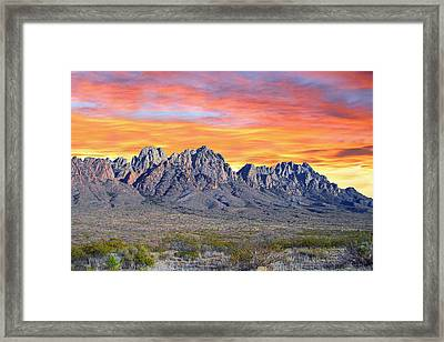 Organ Mountain Sunrise Framed Print by Jack Pumphrey