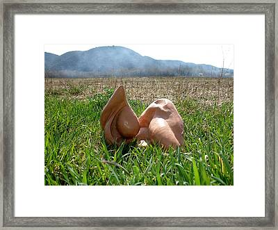 Organic 1 Framed Print by Flow Fitzgerald