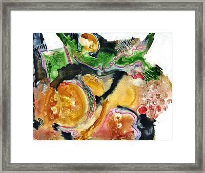 Organic Abstract Art Framed Print by Blenda Studio