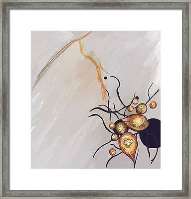 Organic Abstraction Framed Print by Enzie Shahmiri