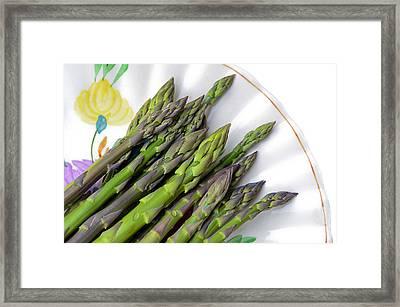 Organic Asparagus Framed Print by Susan Leggett