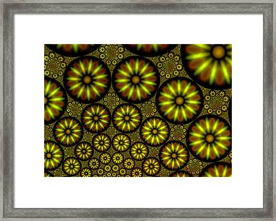 Organic Green Framed Print by Hakon Soreide