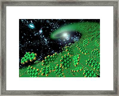 Organic Molecules In Early Universe Framed Print by Nasa/jpl-caltech/t. Pyle (ssc)
