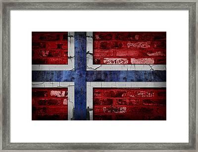 Organic Norway Flag Framed Print by Daniel Hagerman