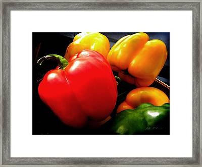 Organic Peppers Framed Print by Julie Palencia