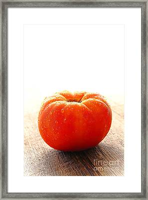Organic Red Framed Print by Olivier Le Queinec