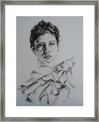 Organza Framed Print by Veronica Coulston